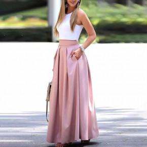 Γυναικεία μακριά φούστα 5002 ροζ
