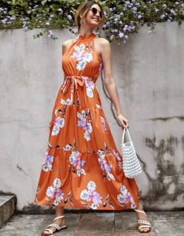 Γυναικείο μακρύ φόρεμα 625708