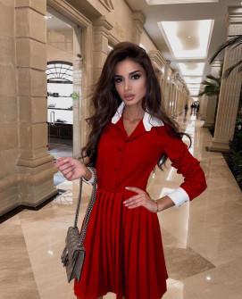 Γυναικείο κλος φόρεμα 54004 κόκκινο