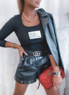 Γυναικεία μπλούζα με στάμπα 4806 μαύρο
