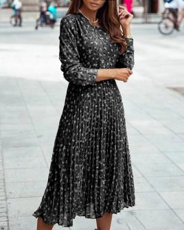 Γυναικείο μίντι φόρεμα σολέιγ 29833 μαύρο