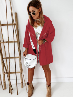Γυναικείο μπουφάν με φερμουάρ 9197 μπορντό