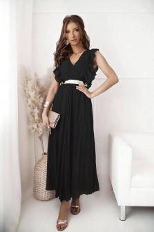 Γυναικείο μακρύ φόρεμα σολέιγ 20116 μαύρο