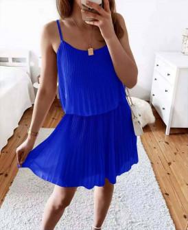 Γυναικείο φόρεμα σολέιγ 5868 μπλε