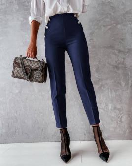 Γυναικείο εντυπωσιακό παντελόνι 5949 σκούρο μπλε