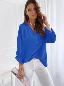 Γυναικείο χαλαρό πουκάμισο 5019 μπλε