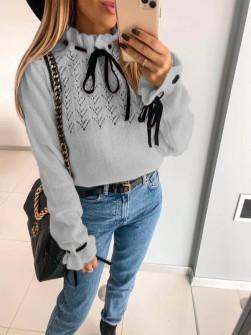 Εντυπωσιακό πουλόβερ 8137 γκρι