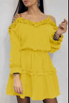 Γυναικείο φόρεμα 2011 κίτρινο