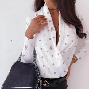 Γυναικεία μπλούζα κρουαζέ 502007 άσπρο
