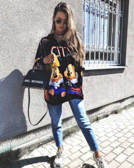 Γυναικείο μπλουζοφόρεμα με στάμπα  359713