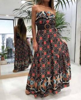 Γυναικείο φόρεμα με ζώνη 2118802