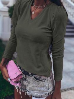 Γυναικεία μπλούζα βελουτέ 3071 χακί