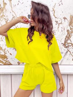 Γυναικείο σετ 2474 κίτρινο