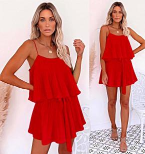 Дамска рокля солей 5199 червена
