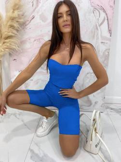 Γυναικείο αθλητικό σετ 61545 μπλε