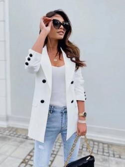 Γυναικείο σακάκι με φόδρα 5863 άσπρο