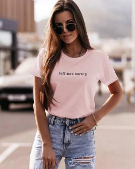 Γυναικείο κοντομάνικο 009092 ροζ