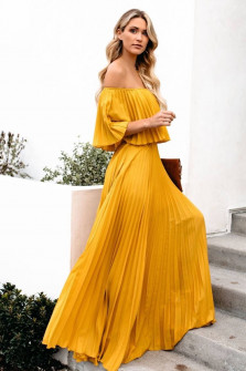 Γυναικείο φόρεμα 3560 κίτρινο