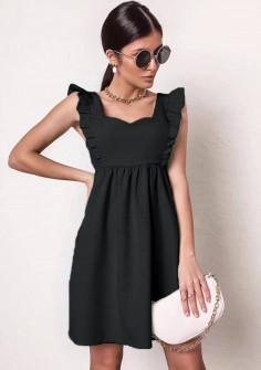 Γυναικείο φόρεμα με εντυπωσιακό ντεκολτέ 20510 μαύρο