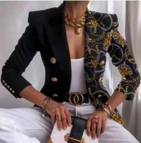 Γυναικείο εντυπωσιακό σακάκι με φόδρα 5652 μαύρο