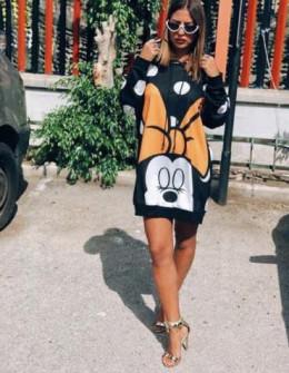 Γυναικείο μπλουζοφόρεμα με στάμπα  359704