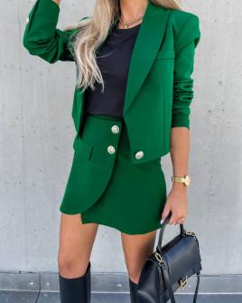 Γυναικείο σετ σακάκι-φούστα 6071 πράσινο