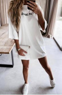 Γυναικείο μπλουζοφόρεμα 4440 άσπρο