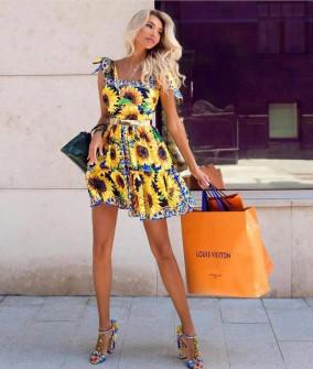 Γυναικείο φόρεμα με τιράντες που δένουν 510308