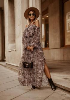 Γυναικείο μακρύ φόρεμα με print 5590203