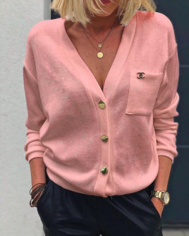 Γυναικεία κοντή ζακέτα 3237 ροζ