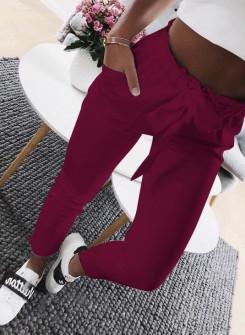 Γυναικείο παντελόνι 18069 μπορντό