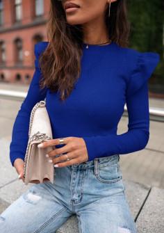 Εντυπωσιακή εφαρμοστή μπλούζα 5400 μπλε