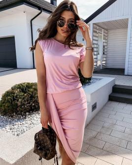Γυναικείο εντυπωσιακό φόρεμα 5132 ροζ