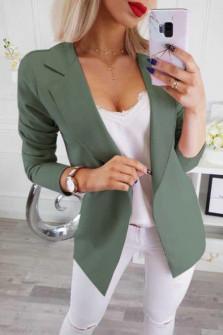 Γυναικείο σακάκι 2692 πράσινο σκούρο