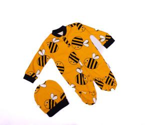 Βρεφική ολόσωμη φόρμα με σκουφάκι 5052423 μέλισσα