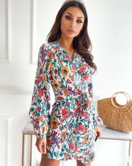 Γυναικείο φόρεμα με εντυπωσιακό ντεσέν 581603