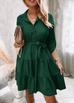 Γυναικείο φόρεμα με ζώνη 5971 πράσινο