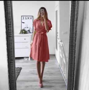 Γυναικείο φόρεμα με ζώνη 1978 κοραλί
