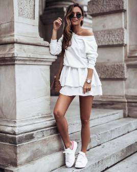 Γυναικείο κλος φόρεμα 21303 άσπρο
