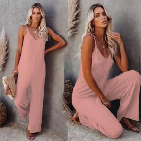 Γυναικεία χαλαρή ολόσωμη φόρμα 3025 ροζ