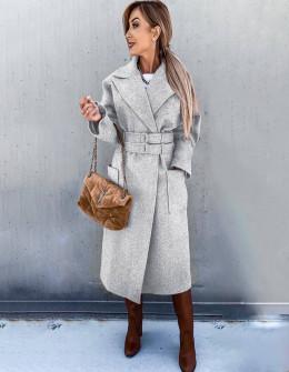Γυναικείο εντυπωσιακό παλτό 6122 γκρι