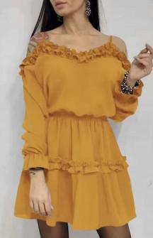 Γυναικείο φόρεμα 2011 μουσταρδί