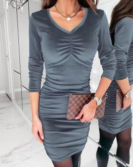 Γυναικείο εφαρμοστό φόρεμα 3434 γκρι