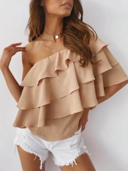 Γυναικεία έξωμη μπλούζα 5121 μπεζ