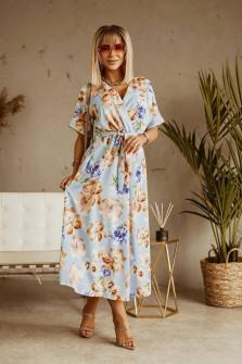 Γυναικείο φλοράλ φόρεμα 371704