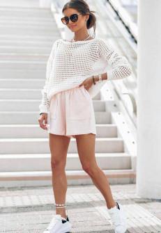 Γυναικεία πλεκτή μπλούζα 4708 άσπρη
