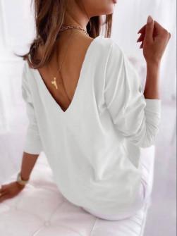 Γυναικεία εξώπλατη μπλούζα 51036 άσπρη