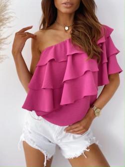 Γυναικεία έξωμη μπλούζα 5121 φούξια