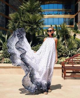 Γυναικείο εντυπωσιακό χαλαρό φόρεμα 2122202