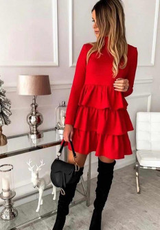 Γυναικείο φόρεμα 3952 κόκκινο